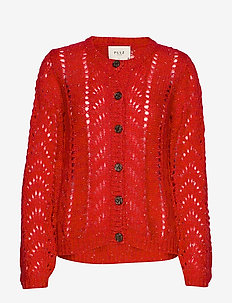 PZADELE Cardigan - CHINESE RED