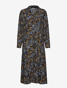 PZLOUISE Dress - skjortekjoler - black flower