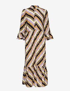 PZTINA Dress - skjortekjoler - yellow stripe
