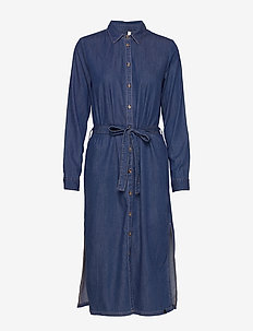 PZJOSIE Dress - skjortklänningar - medium blue denim