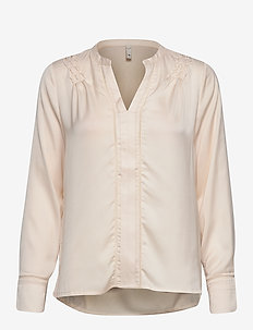 PZHATTIE Blouse - langermede bluser - pearled ivory