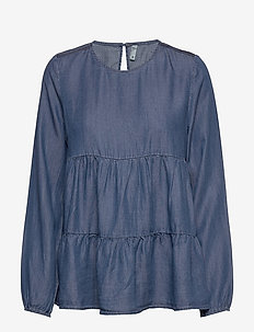PZKEVA Blouse - medium blue denim