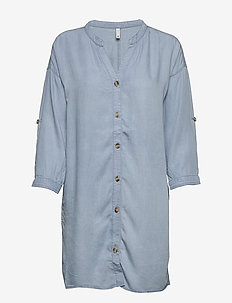 PZDONATELLA Shirt - tunikor - light blue denim