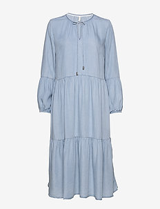 PZDONATELLA Dress - jeansklänningar - light blue denim
