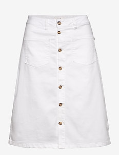 PZDITTE Skirt - denimnederdele - bright white