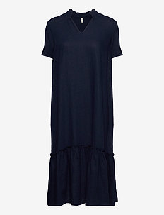 PZBIANCA Dress - midi kjoler - dark sapphire