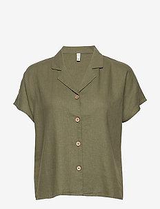 PZBIANCA Shirt - lyhythihaiset paidat - olivine
