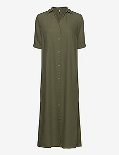 PZBIANCA Shirt - shirt dresses - olivine