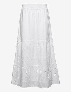 PZVANESSA Skirt - maxi nederdele - bright white