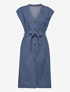 PZTINKA Dress - denimkjoler - medium blue denim