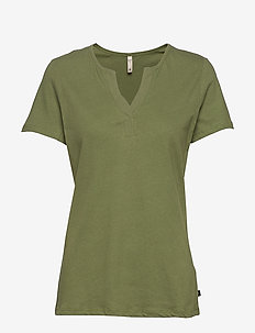 PZAMABELLA T-shirt - basic t-shirts - olivine