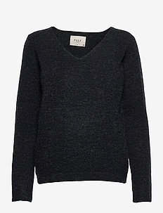 PZASTRID Pullover - swetry - stretch limo melange