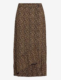 PZMINNA Skirt - maxi nederdele - honey mustard/black printed