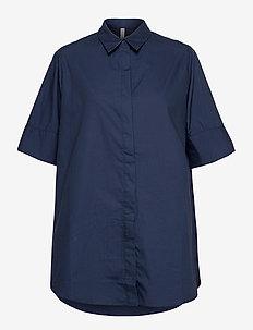 PZWILLO Shirt - kortermede skjorter - dark sapphire