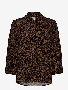 PZMYLA Shirt - langermede bluser - dark sapphire printed