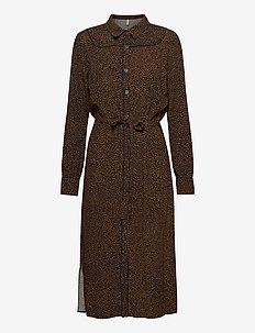 PZMYLA Dress - skjortekjoler - dark sapphire printed