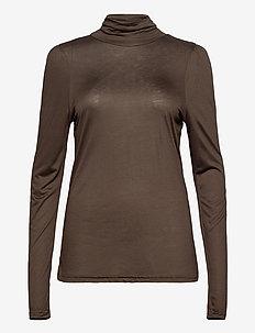 PZCARLA T-shirt - langærmede toppe - chocolate brown