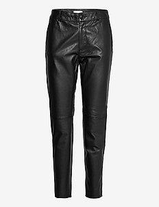 PZCHLOE Pant Premium Quality - leren broeken - black beauty