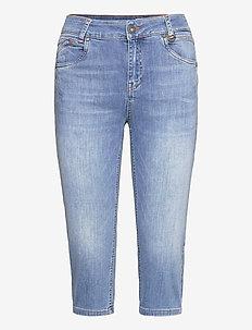 PZEMMA Capri Skinny - pantalons capri - light blue denim