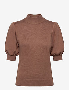 PZSARA Pullover - strikkede toppe - brownie melange