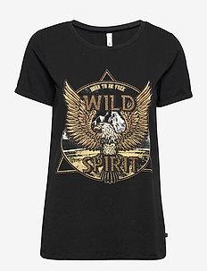 PZGUDRUN T-shirt - t-shirts - black beauty