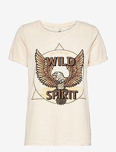 PZGUDRUN T-shirt - t-shirts - buttercream