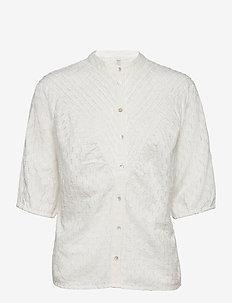 PZLYDIA Shirt - kortærmede bluser - white sand