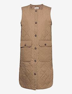 PZELINA Waistcoat - lette frakker - tannin