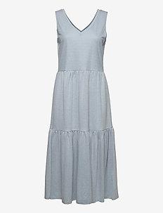 PZAMELIA Dress Long MIX&MATCH - sommerkjoler - brunnera blue