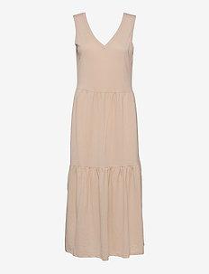 PZAMELIA Dress Long MIX&MATCH - sommerkjoler - irish cream