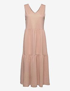 PZAMELIA Dress Long MIX&MATCH - sommerkjoler - mahogany rose