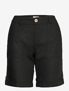 PZBIANCA Shorts - chino shorts - black beauty