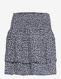 PZBENEDIKTE Skirt - korte nederdele - dark sapphire flower printed
