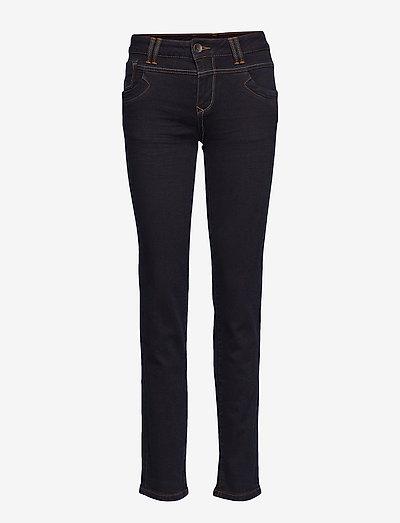 Tenna Highwaist Straight - straight jeans - raw blue denim