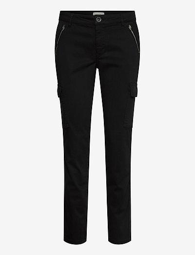 PXELVA Pant - bukser med lige ben - black beauty