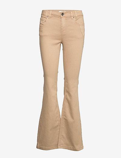 PZRITA Pant - flared jeans - tannin