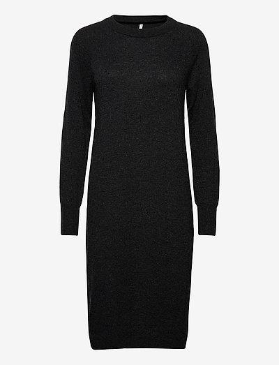 PZNOLA Dress - strikkjoler - dark grey melange