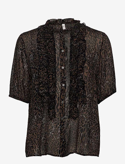 PZAMAYA Blouse Premium Quality - kortærmede bluser - black printed