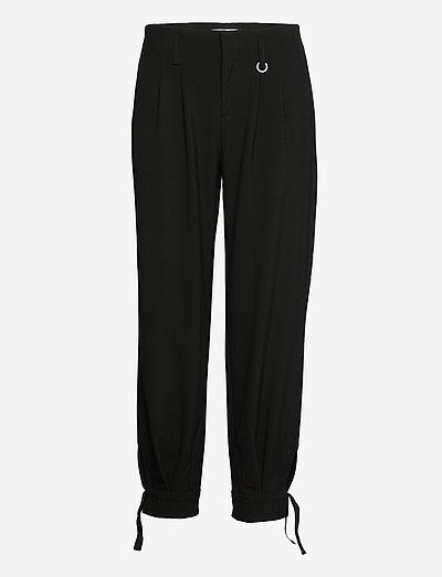 PZADRIANA Pant Premium Quality - bukser med lige ben - black beauty