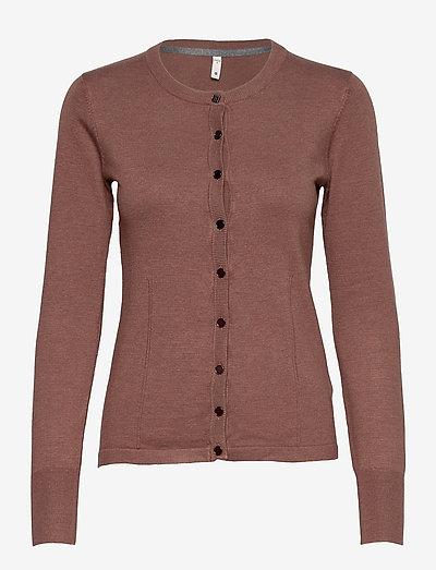 PZSARA Cardigan - cardigans - brownie melange