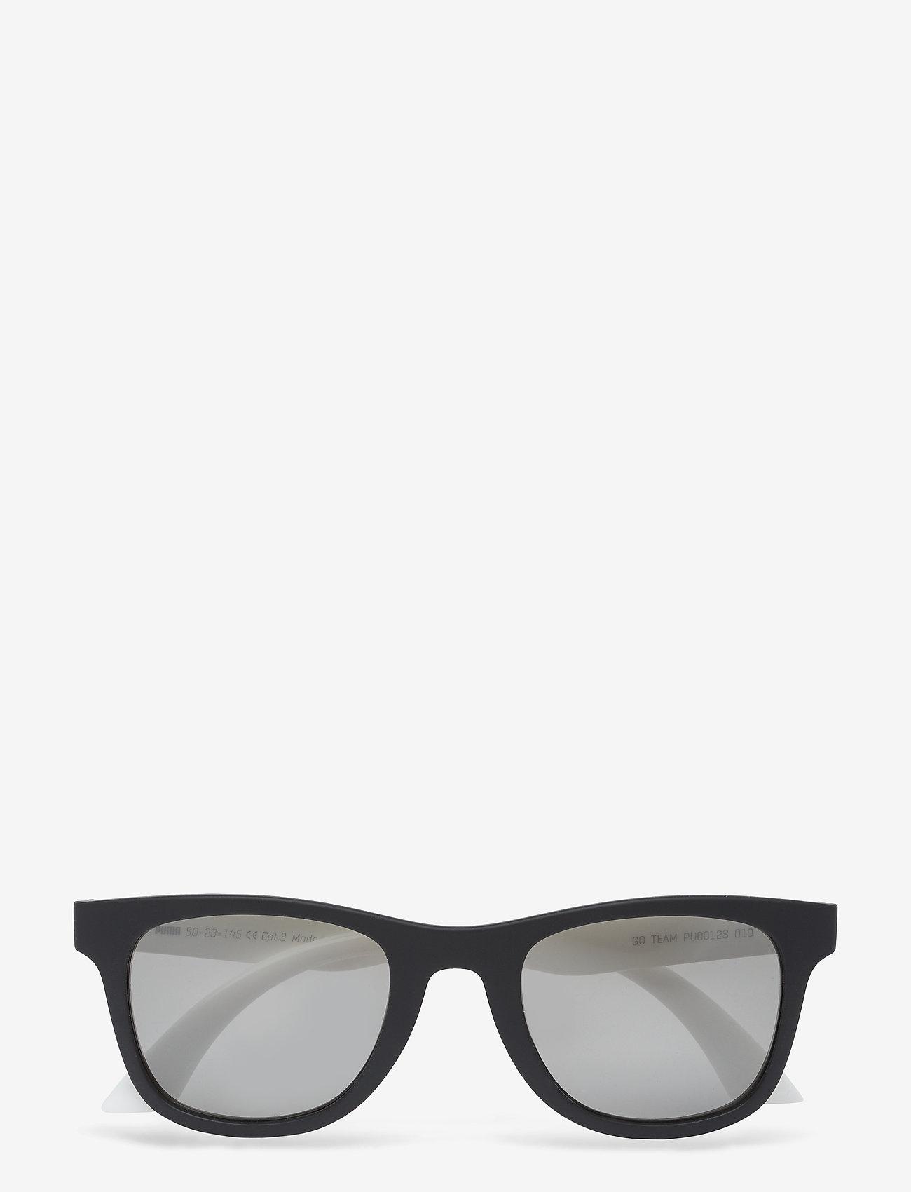 PUMA - PU0012S - okulary przeciwsłoneczne w kształcie litery d - black-white-smoke - 1