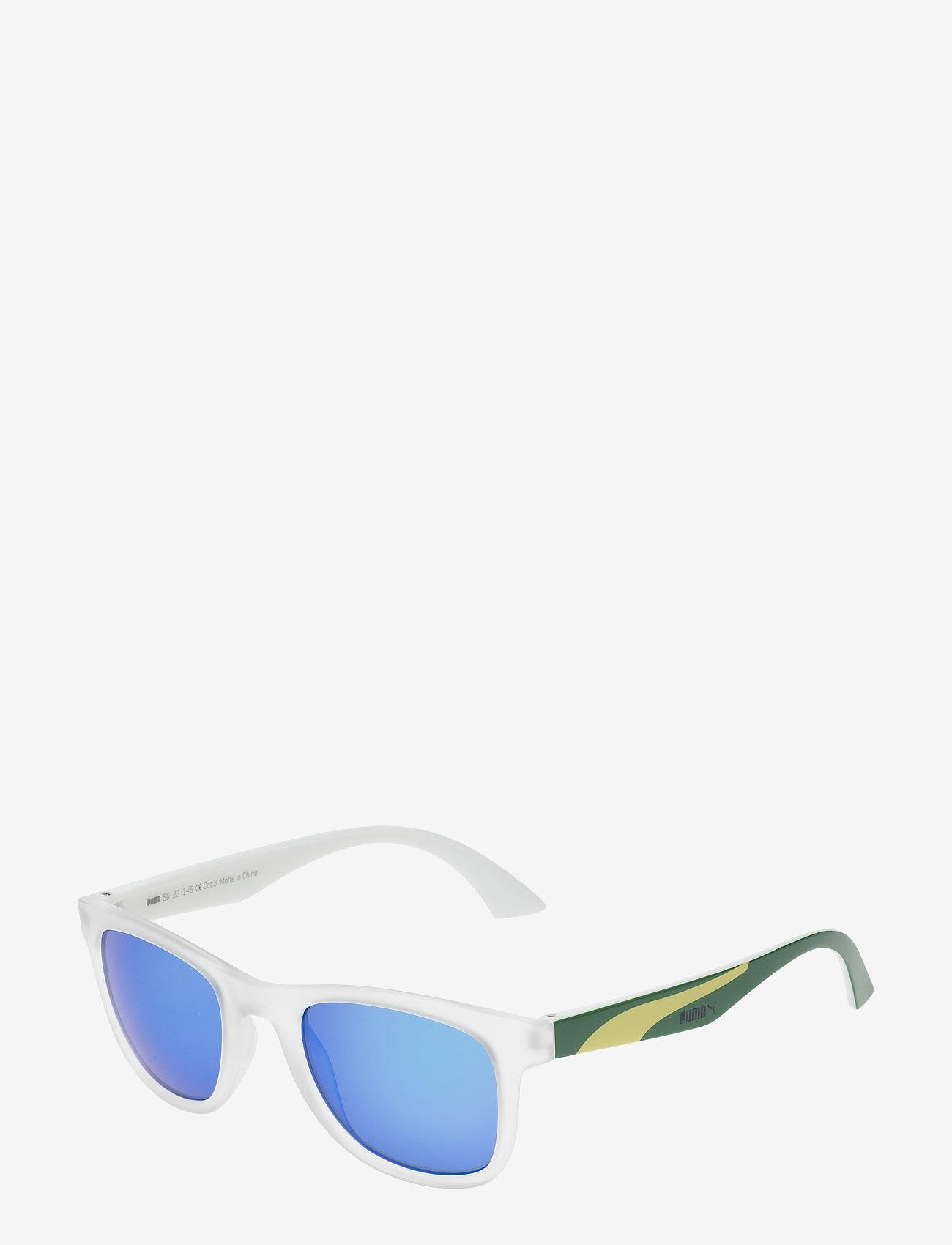 PUMA - PU0012S - okulary przeciwsłoneczne w kształcie litery d - crystal-green-blue - 1