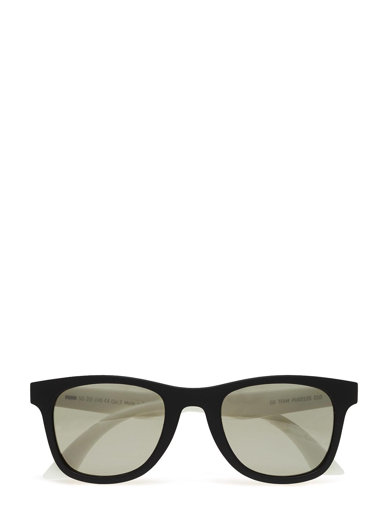 PUMA - PU0012S - okulary przeciwsłoneczne w kształcie litery d - black-white-smoke - 0