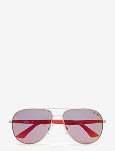 PU0007S - pilotowe okulary przeciwsłoneczne - ruthenium-red-red