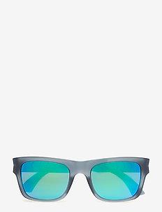 PU0038S - okulary przeciwsłoneczne w kształcie litery d - grey-grey-green