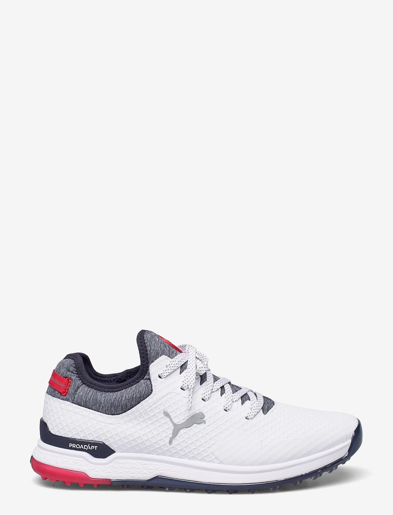 PUMA Golf - PROADAPT ALPHACAT - golf shoes - puma white-navy blazer-high risk re - 1