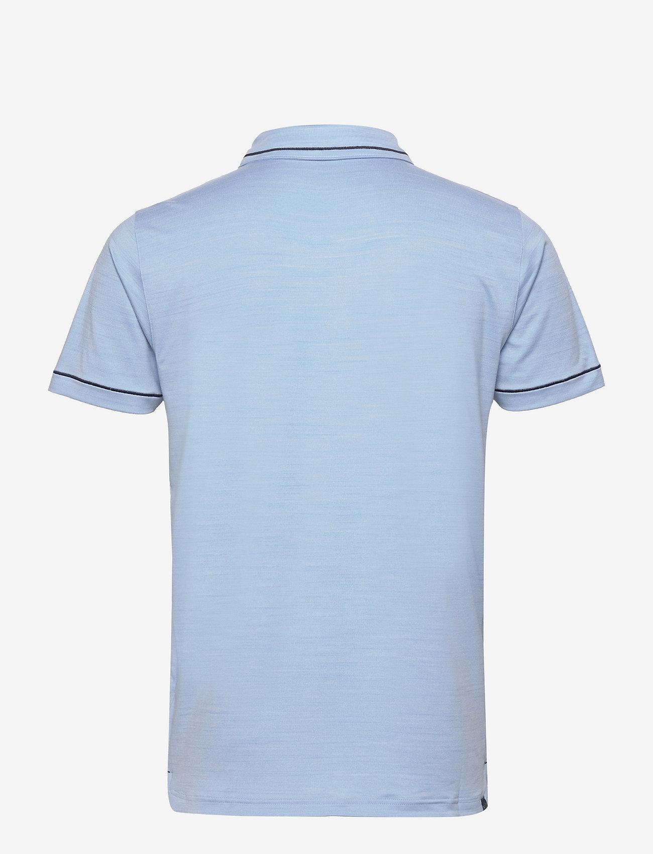 PUMA Golf - Cloudspun Monarch Polo - polos - placid blue heather-navy blazer - 1