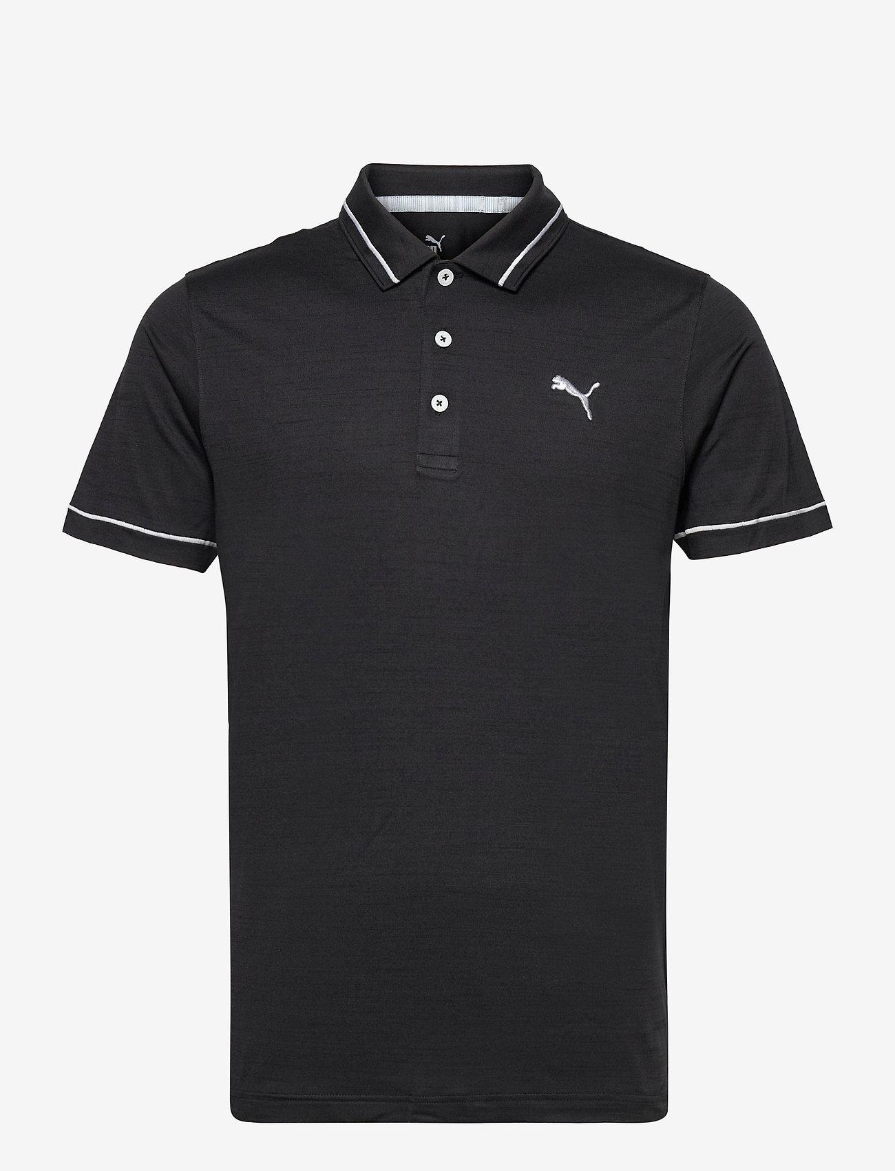 PUMA Golf - Cloudspun Monarch Polo - pikeer - puma black heather-high rise - 0