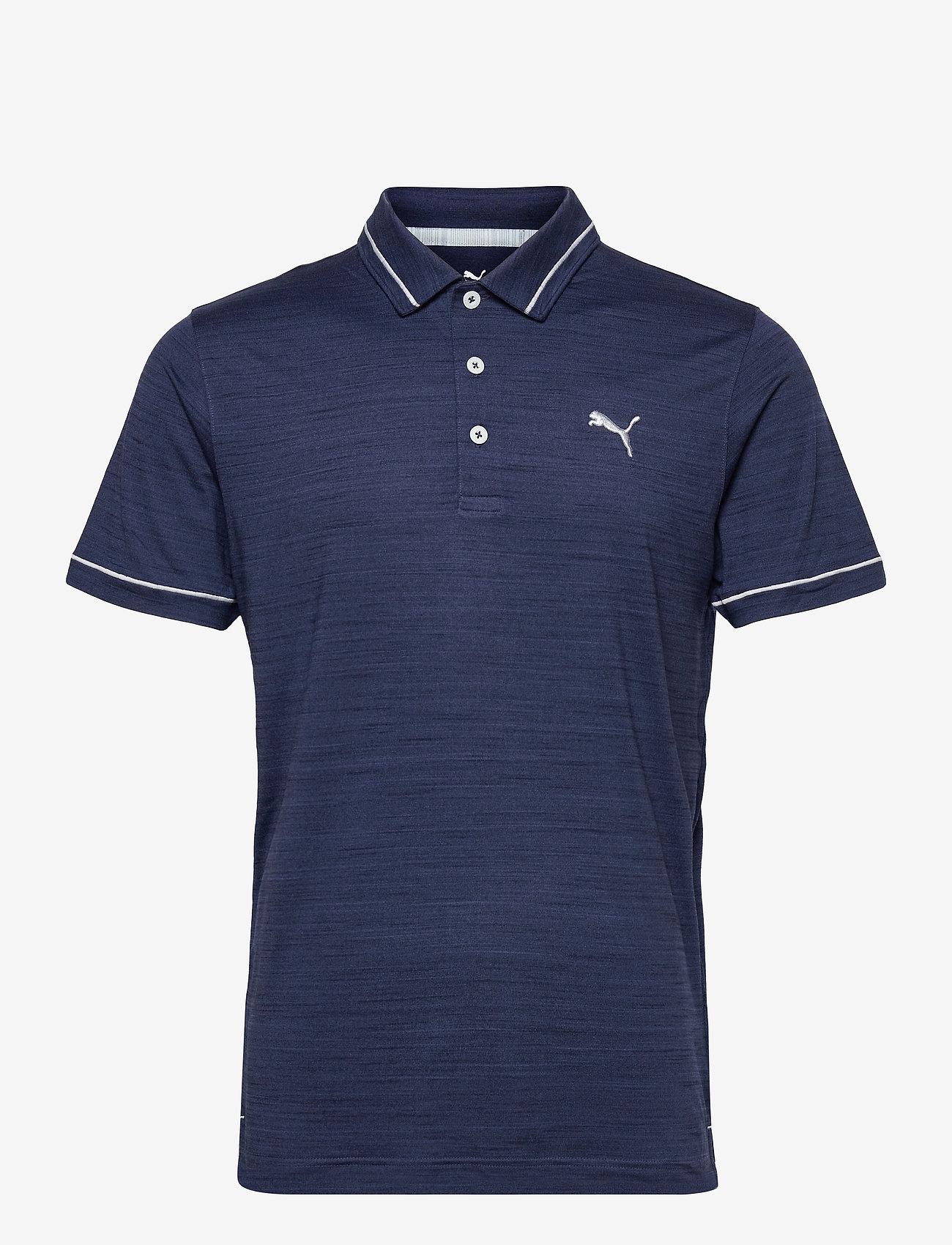 PUMA Golf - Cloudspun Monarch Polo - polos - navy blazer heather-high rise - 0