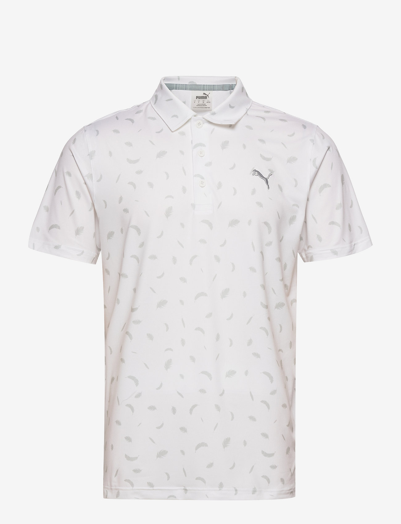 PUMA Golf - Cloudspun Feathers Polo - pikeer - bright white-high rise - 0